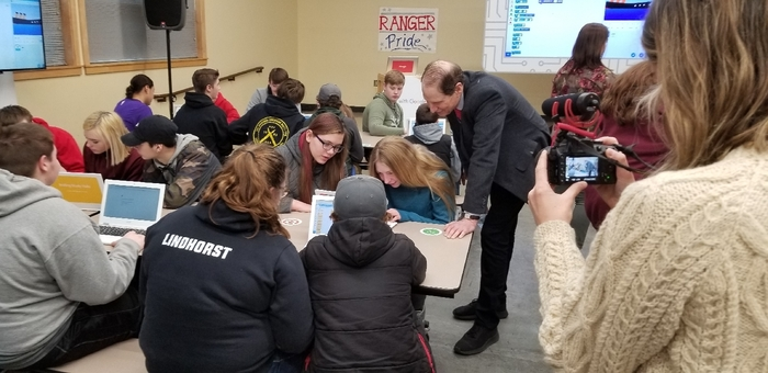 Coding fun with Senator Wyden.
