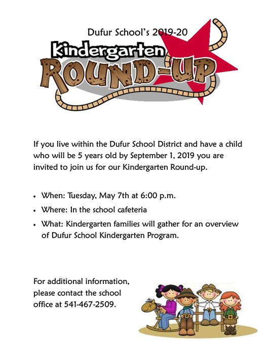 Kindergarten Round-up Flyer