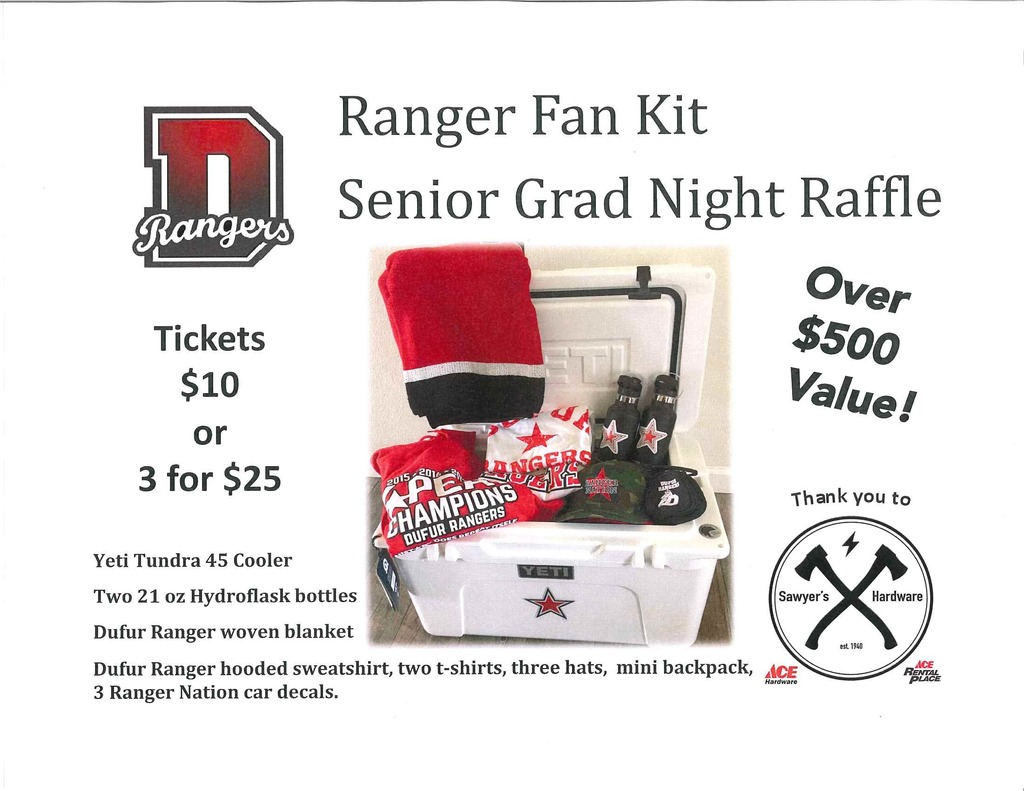Grad Night Raffle Flyer